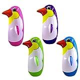 NUOBESTY 6Pcs Sacchetto Gonfiabile di Punzonatura Giocattolo Gonfiabile Colorato Pinguino Giocattolo Tumbler in Piedi Boxe Giocattolo - 22 Cm (Colore Casuale)