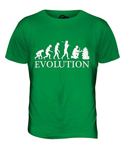 CandyMix Geologia Evoluzione Umana T-Shirt da Uomo Maglietta Verde