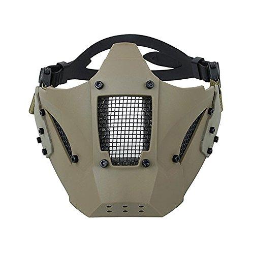 TMC Modular Hard Shell Hälfte Gesicht Maske Für Airsoft Paintball MilSim - Khaki