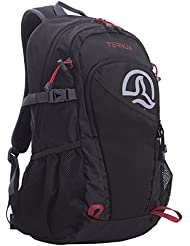Ternua SB Mochila, Unisex Adulto, Negro (Black / Dark Red, 25 l