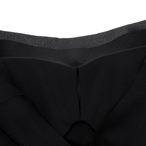 Sharplace Soutien-gorge de Sport sans Armature Sous-vêtements Bra Gilet Femme en Coton Respirent Confort Yoga Noir