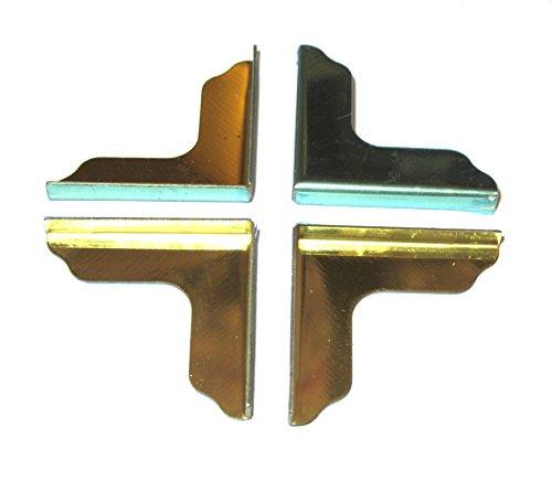 FEIHOFF Toys - Basteln - Zierecken - ca.25,5/25,5/3,6 mm - Golden Farben - 1x4Stück (Ecke Toy Box)