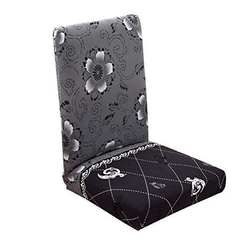 Shuda - Housse de chaise élastique lavable amovible pour salle à manger, mariage, banquet, décoration de fête - Avec des motifs imprimés 45-55cm #8