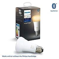 Philips Hue UAE Ambiance LED Smart Bulb, Bluetooth & Zigbee compatible ( Hue Bridge Optional ), Works with Alexa & Google Assistant, White