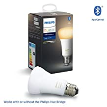 Philips Hue UAE Ambiance LED Smart Bulb, Bluetooth & Zigbee compatible ( Hue Bridge Optional ), Works with Alexa & Google Assistant, White