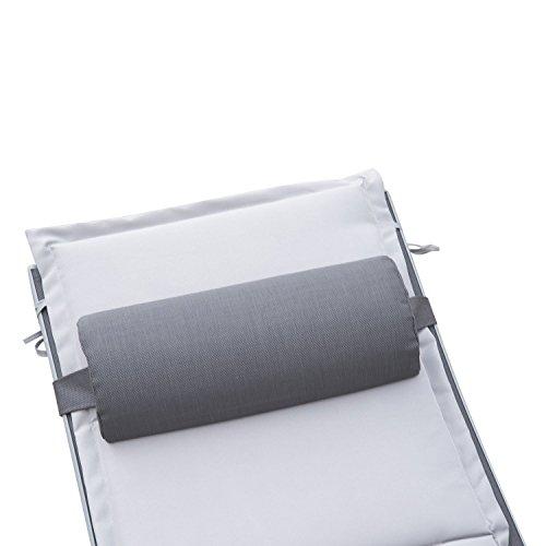 Outsunny Sonnenliege Gartenliege Gartenstuhl Relaxsessel Liegestuhl Aluminium, grau - 4