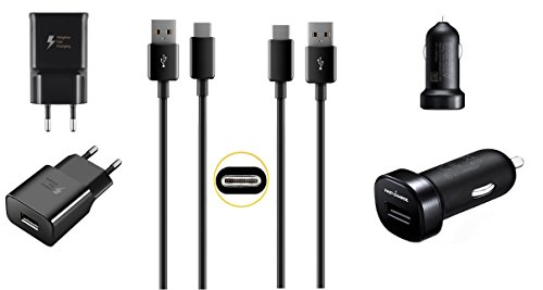 Original M2® Schnell Ladegerät Schwarz 1x KFZ Adapter + 1x Netzteil + 2x USB-C Kabel Ladekabel Datenkabel Typ-C Set für Original Huawei Mate 10 Pro Mate 10 Mate 9 Mate 9 Pro P9 P9 Plus Nova Nova 2 Nova 2 Dual Nova Plus P10 P10 Plus P20 P20 Lite P20 Plus P20 Pro Honor V8 Google Nexus 6P Honor 8 Honor 8 Premium Honor 8 Pro Honor 9 Honor Magic Honor Note 8 Honor V8 2017 Honor V9
