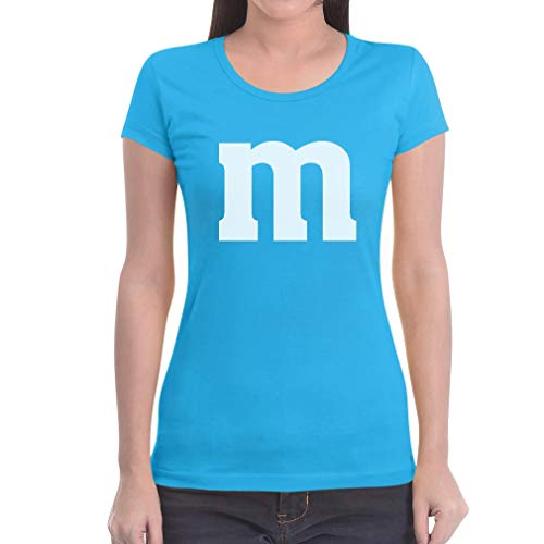 Süßes Outfit m Damen Karneval Fasching JGA Gruppen-Kostüme Frauen T-Shirt Slim Fit Medium Hellblau