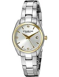Stührling Original 414L.03 - Reloj analógico para mujer, correa de acero inoxidable, color plateado