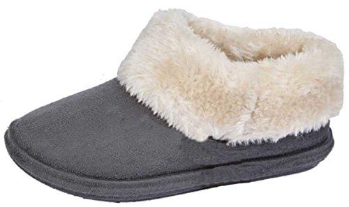 Jo & Joe Chiltern Fur Lined Fur Collar Slipper Boot - Cognac, Dark Brown UK6 - EU39 - US8 - AU7 Dark Brown