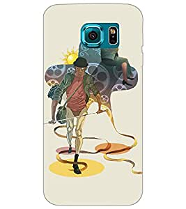 SAMSUNG GALAXY S6 SWORD MAN Back Cover by PRINTSWAG
