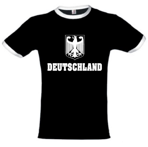 world-of-shirt Herren T-Shirt Deutschland Adler Retro Shirt |M