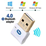Maxesla USB Bluetooth 4.0 Adaptateur Clé Bluetooth pour PC Portable, Casque Bluetooth, Mobile, PDA Transmetteur Bluetooth et Récepteur Plug and Play pour Windows 10/8/ 7/ Vista/XP