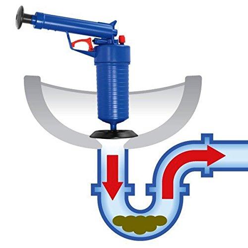 tmalltide High Druck Air Drain Blaster Pumpe Kolben Spüle Schlauch Verstopfen Entferner von Wiht 4Adapter für WC Küche