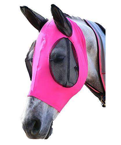 SISIEU Maschera Protettive per Cavalli con Le Orecchie,Copertura Protettiva per Animali...