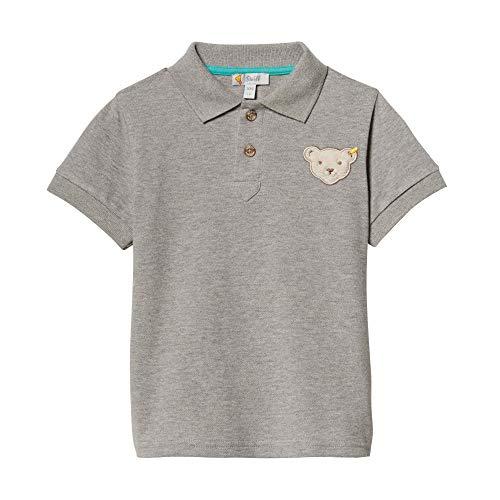 Steiff Baby-Jungen Poloshirt, Grau (Gray Violet 9008), 86