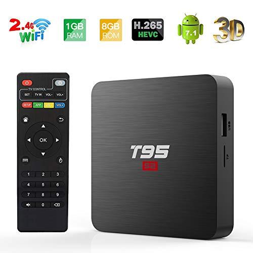 Android TV BOX, T95 S2 TV BOX 2GB RAM/16GB ROM Android 7.1 Amlogic S905W Quad Core Unterstützung 2.4Ghz WiFi H.265 4K HDMI DLNA Mini TV BOX