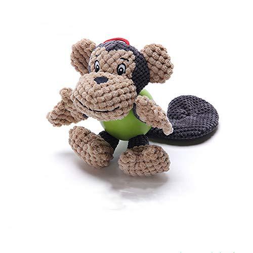 XinC Plüsch Haustier Spielzeug Hund kauen Spiel Spielzeug langlebig geeignet für Haustiere Spielen Unterhaltung Zeit Gummi plüschtiere,Monkey -