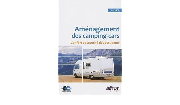 aménagement des camping-car confort et sécurité des occupants
