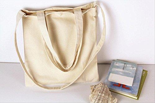 12APM eco-protection Canvas Tote Bag Damen Handtasche Shopper Schulter/Cross-Body-Big Kapazität beige - Canvas Long Strap Handtasche