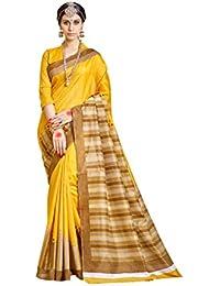 Samskruti Sarees Raw Silk Saree (Sleesa-111_Yellow)