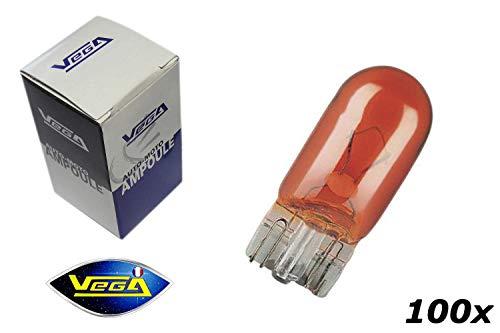 100 ampoules Vega® clignotant WY5W W5W T10 orange 12V