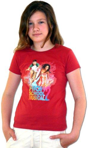 High School Musical T-Shirt, rot, Gr. 116/ca. 6 (Kostüme School Musical Kinder High)