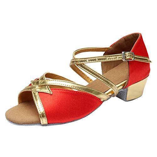 174350f252a05 LIN Sandales Femmes Bébé Tango Chaussures de Danse Carrée Valse Latine  Parent-Child