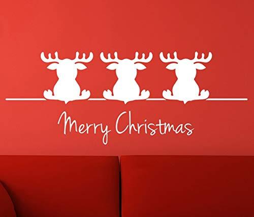 Dalxsh Little Christmas Butts Frohe Weihnachten Zitate Wandaufkleber Wandtattoo Wand Dekor 22X51 Cm