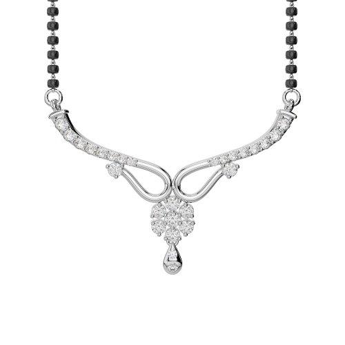 Or blanc/or jaune/Platinum-Collier Femme-diamant mangalsutra dnc-2185-vsgh