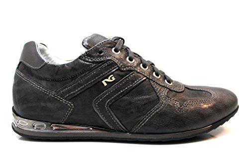Nero Giardini A513382D Nero e Grigio Sneakers Scarpe Donna Made in Italy Verde Grigio