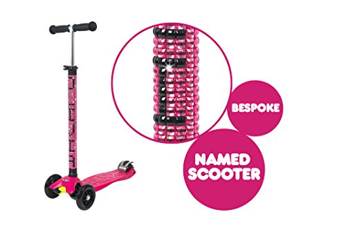 Personalised Maxi Micro T-Bar Scooter - Raspberry (Names)