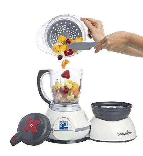 Babymoov Nutribaby Cherry - Babynahrungszubereiter, schonendes Dampfgaren, Mixen, Sterilisieren, Aufwärmen, 2100ml Fassungsvermögen - 5