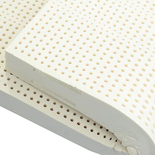 XCXDX Faltbare Matratze, Naturlatex-Matratze Mit Samt-Tagesdecke Mit Reißverschluss, 7 Stützzonen, Leise Und Bequem 200×180×7.5cm