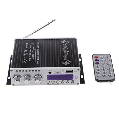 DollaTek Mini Bluetooth Hallo-Fi-Stereo-Audio-AMP Verstärker Bass Booster MP4 12V Unterstützung FM / MP3 / TF/USB/DVD für Auto-Motorrad-Auto-CD DVD Stereo 12