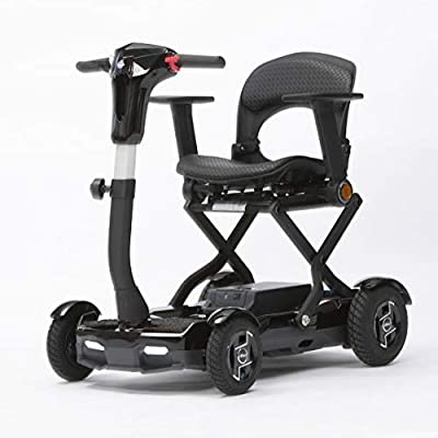 Knight ElectroFold - Digital LCD Control Panel - Advanced Laser Drive - Lightweight Lithium Battery - Folding Travel Mobility Scooter with Remote Control Ignition