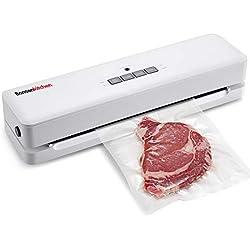 Machine Sous Vide Appareils de Mise Sous Vide Système Bonsenkitchen, garde les aliments secs et humides frais, y compris 1 rouleau de film sous vide, blanc VS3803