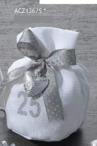 12 pz sacchetto portaconfetti 25 anni matrimonio nozze d argento con nas