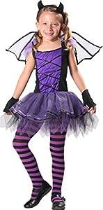 CARITAN disfraz The Little disfraz de bruja con Diadema y cola en Deluxe, para niños (5-7años)