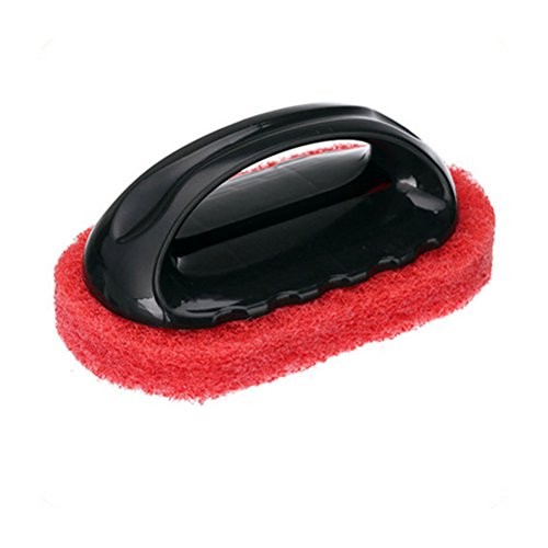 OULII Cucina pulizia spazzola con manico casa bagno Scrub Pennelli (rosso)