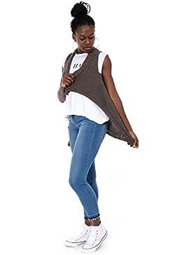 Mer's Style Chaleco de punto para mujer