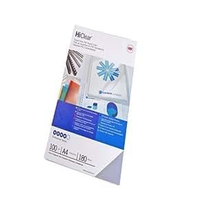 GBC CE012080E Copertine Rilegatura Hiclear A4, PVC 200 Mic, Confezione da 100