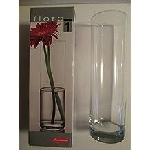 pasabahce flora jarrn de cristal cilndrico