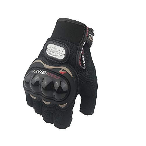 LybGloves Im Freiensport der Motorradhandschuhsommerhalbfingerhandschuhe im Freien, der rennende f Schutzhandschuhe, Schwarzes, L reitet