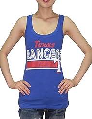 MLB Mujer Texas Rangers deportivo de cuello redondo Camiseta de (Vintage), MLB, mujer, color azul, tamaño XXL