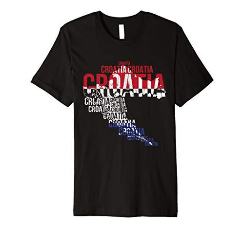 Kroatien Hrvatska Fussball Flagge Kroatisches Trikot T-shirt