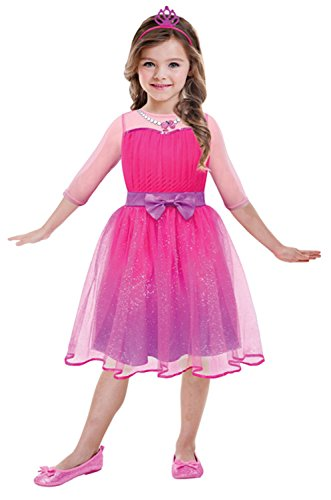 Barbie Kinder Kostüm - Amscan 999550 - Kinderkostüm Barbie Prinzessin, circa 8 - 10 Jahre, Gröߟe 132, pink