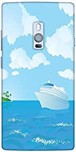 Snoogg Cruise Vector Designer Protective Back Case Cover For One Plus Two