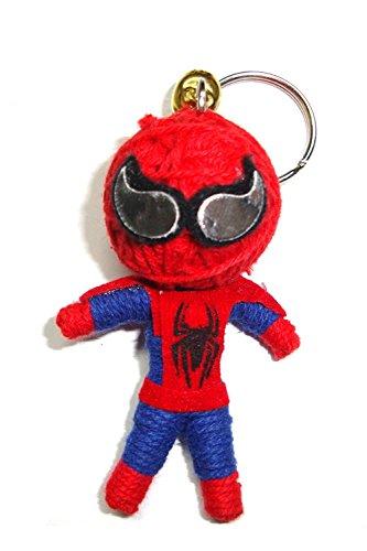 Spiderman Schlüsselanhänger mit String Doll Voodoo-Puppe, Glücksbringer