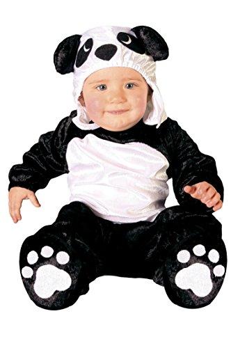 GUIRCA SL-82626 Kostüm Panda Neonrau, Weiß und Schwarz, 6-12 Monate, ()
